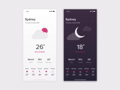 Weather App Concept iphonex weather design ui app