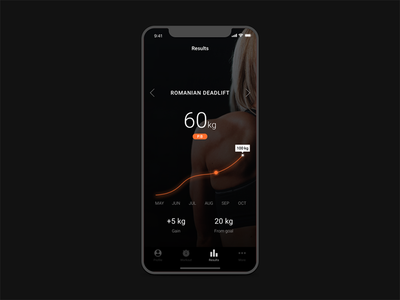 Fitness Results minimal tracker workout health fitness design app ui