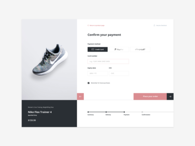 Daily UI #002 - Credit card checkout grid minimal retail design web ui creditcard checkout dailyui
