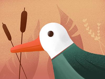 Autumn Duck duck autumn procreate illustration