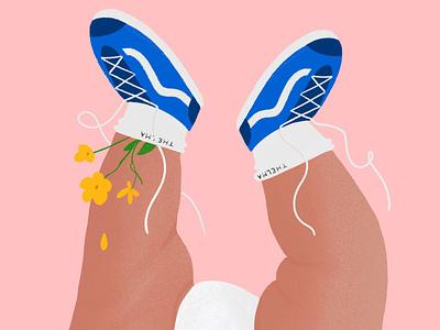 Newborn babyshoes legs vans procreate illustration newborn baby