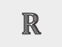 R lettering