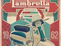 Lambretta retro poster