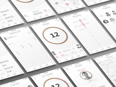 YOYO - App interaction interface screen yoyo prototype interactive ui mobile design application
