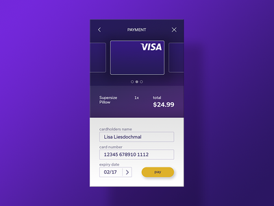 Credit Card Checkout  mobile interface visual app design screen 002 checkout card credit ui daily