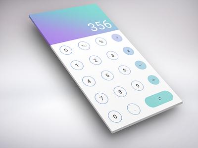 Calculator app application mobile interaction screen design interface calculator 004 ui daily