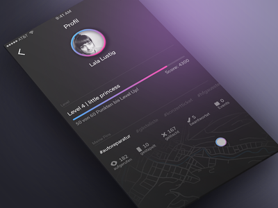 User Profile interface application app visual design screen profile user 006 ui daily