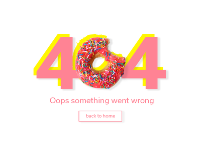 404 page interaction screen donut visual design interface page 404 008 ui daily
