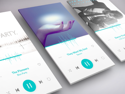 Music Player interaction visual interface design screen player music 009 ui daily