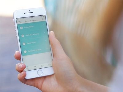 Kitchen Assistance - App screen interaction interface user list shopping ux ui design application