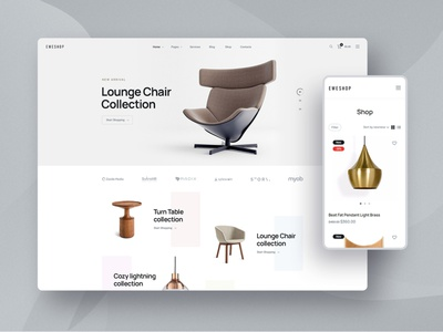 Eweshop - WooCommerce Multipurpose Shop woocommerce ecommerce furniture theme clean corporate wordpress landing shop store webdesign website