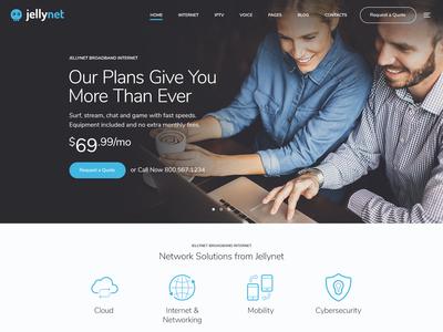 JellyNet - IPTV Internet Provider Theme.