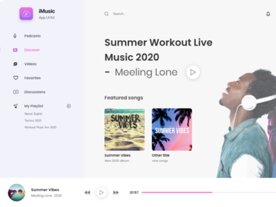 Music Web Aprounded web logo website ux ui typography illustration design branding app