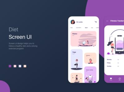 Be Diet UI illustrator web typography logo illustration design branding ux ui app