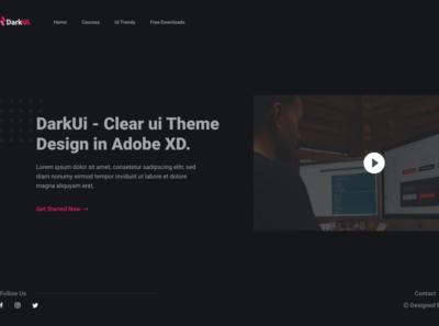 DarkUI branding web ux ui icon design app
