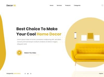 DecorUI flat minimal design branding website typography web ux ui app