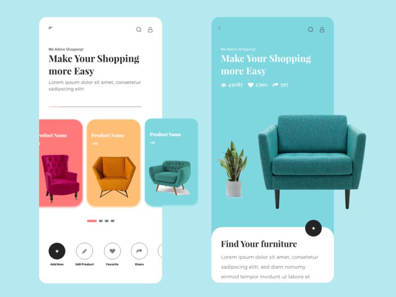 Furniture  UI website design web ux ui app
