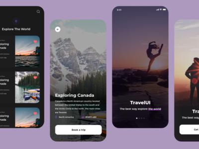 Travel mobile Ui traveling design graphic designer ui ux uxdesign uidesign adobexd