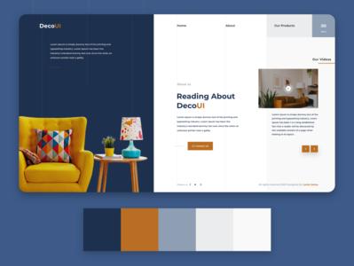 DecoUI - Web UI adobe xd uiux uxdesign uidesign branding web app ux design ui
