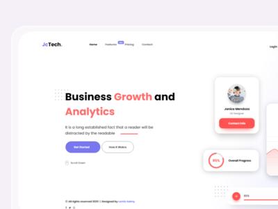 JcTech-UI adobexd website uiux uxdesign uidesign branding web app ux design ui