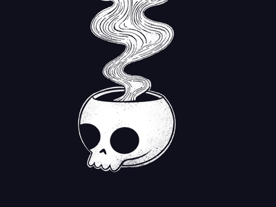 Skull guy bones gothic black and white procreate texture inktober skull illustration