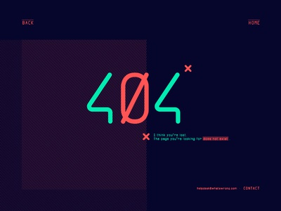 Day 8 404 page 404 008 dailyui