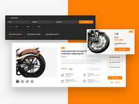 Motorcycle parts shop