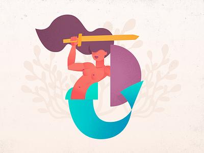 Warsaw mermaid illustration vector marine warsaw mermaid