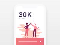 30k Followers on Dribbble!