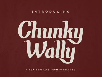 Chunky Wally antique retro decorative vintage type display typeface font free demo
