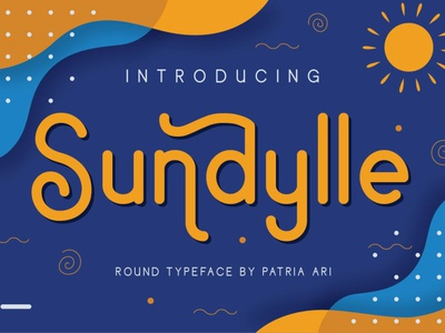 Sundylle Round Typeface design typography vacation summer playful children kids fun typeface type font