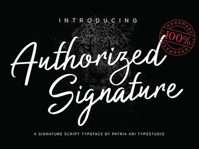 Authorized Signature signature fonts signature business feminine elegant script typography branding handwritten typeface type font