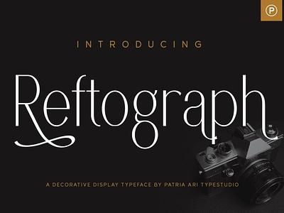 Reftograph simple clean logo design elegant sans display typography branding typeface type font