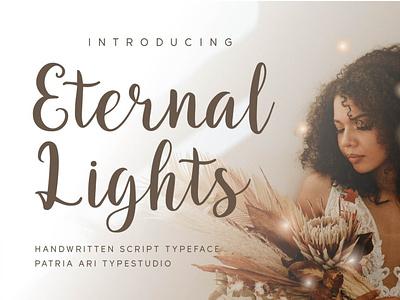 Eternal Lights cute girly girl handwritten feminine script typography display branding typeface type font