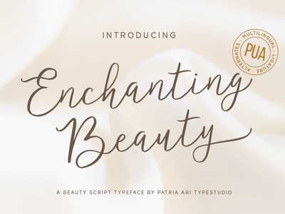 Enchanting Beauty wedding invitation wedding typography feminine elegant handwritten script display branding typeface type font