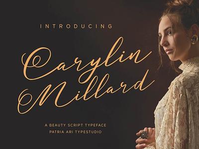 Carylin Millard signature royal classy luxury feminine elegant handwritten script typography branding typeface type font