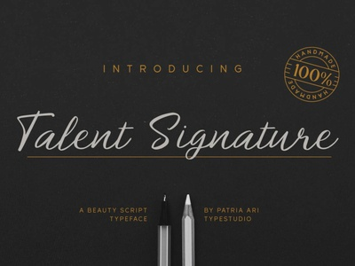Talent Signature elegant font type typeface corporate businesscard display branding typography script signature font handwritten fonts handwritten business elagant signature