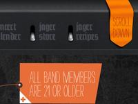 Jagermeister Music.com (Menu design)