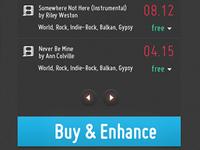 Vimeo Concept iPad Design (Music Store)