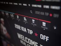 NBA .com Concept UI Design Piece 2 (Personal Project)