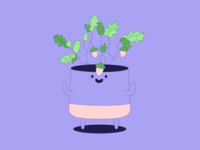 Pickle · Oak plant illustration