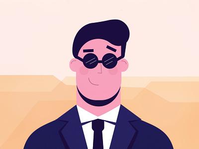 Styleframe l Businessman 2d animation duik transition motion design rigging desert sand job contrast tie suit adobe illustrator vector business businessman character illustration character design illustration