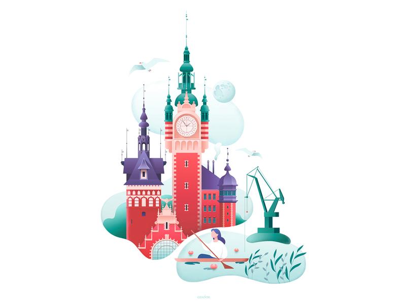 "Poster ""Magic of Gdansk"""