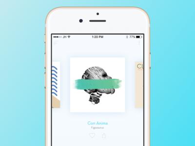 Music - Keep it simple simple ui figozaurus ios iphone app player mobile music