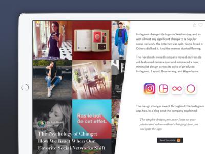 Bakumag - Blog platform for Baku sketch freebie blog design ipad baku ui