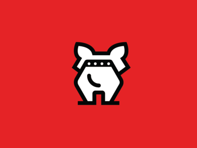 Dogo - Dog logo logo tail wagging mans best friend collar pet doggy dog animal