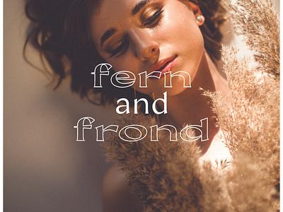 Fern and Frond Logo Design branding design floral florist logotype branding logo graphic design