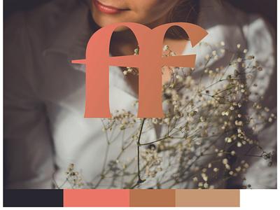 Fern and Frond Brand Mark Design florist floral type mark logo mark brand identity brand design branding color palette icon brand mark
