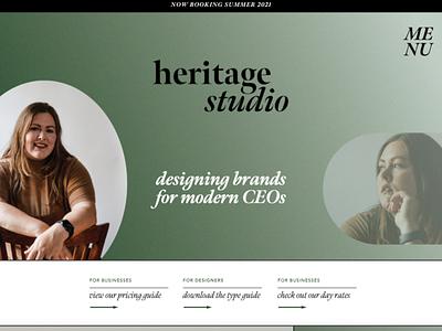Heritage Studio Web Design xd design showit design branding design branding design studio web development web design