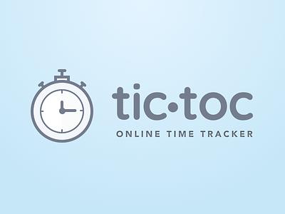 Tic Toc online app chronometer blue time logo